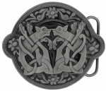 Celtic Wild Cats Belt Buckle with display stand. Product code DE8